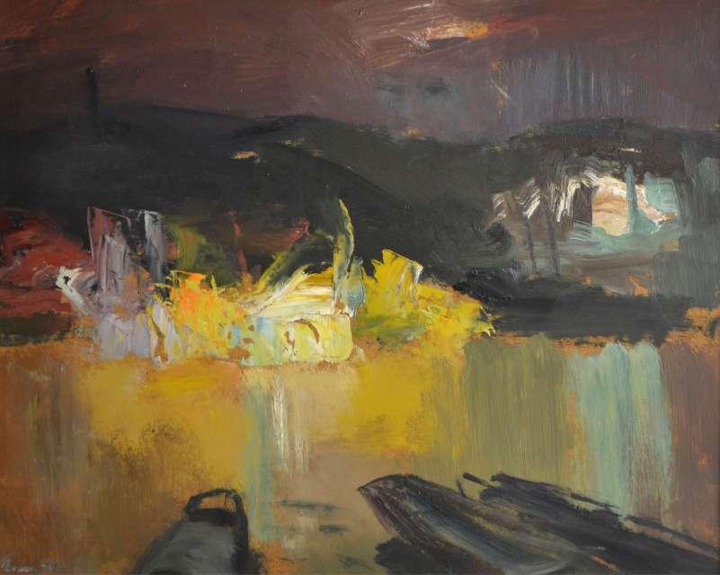 Sergejus Gračiovas (1922–1993)  Uostas naktį 1979, kart., al., 38 x 47