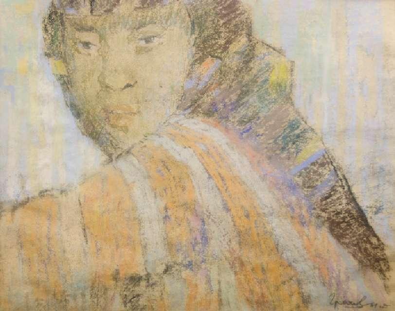 Sergejus Gračiovas (1922–1993)  Kinės portretas 1961, popierius, pastelė, 34,5 x 44,5