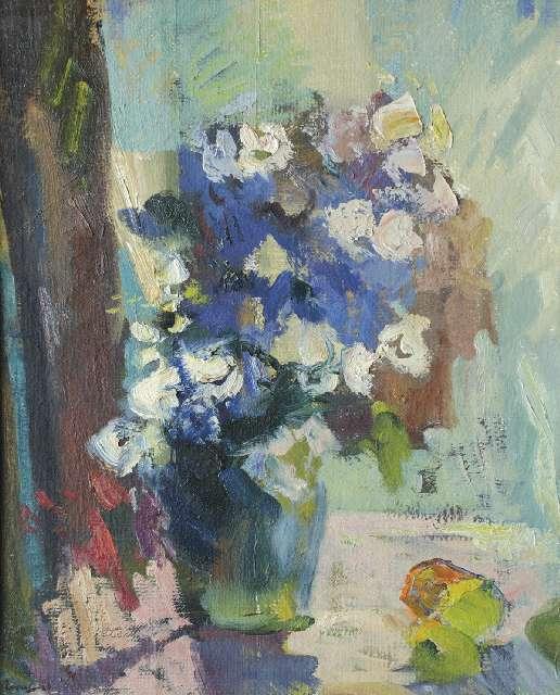 Sergejus Gračiovas (1922–1993)  Gėlės 1989, kart., al., 61 x 50 Sign. AK: parašas 89